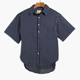 Mr. Smyth Boys Teens Striped Casual Shirt (Blue)