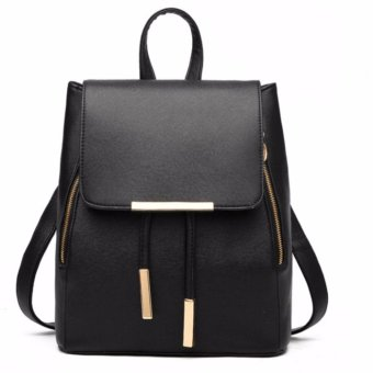 Ms han edition tide fashion backpack(black)
