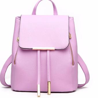 Ms han edition tide fashion backpack(purple)