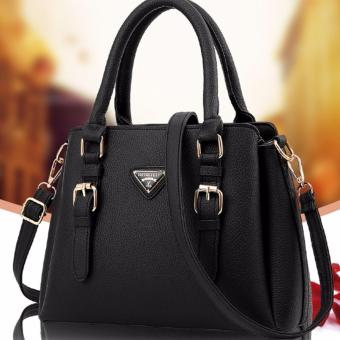 Ms summer new Europesingle shoulder bag bag fashion(black)