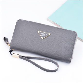 Multi-functional large capacity clutch bag New style women's wallet (Gray)