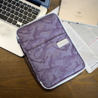 Multi-functional portable travel passport bag documents bag (Are code + Large camouflage purple)