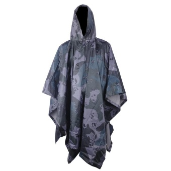 Multifunctional Military Impermeable Camo Raincoat Waterproof RainCoat Men Women Camping Fishing Motorcycle Rain Poncho - intl - 2