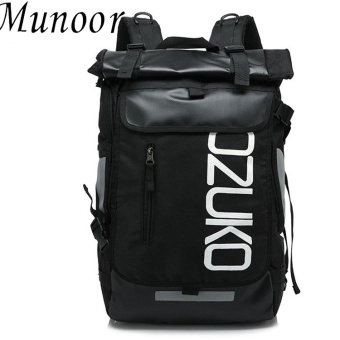 Munoor Men Backpacks Rucksack Business Travel 15.6inch Laptop Bag School College Bag Daypack (Black) - intl