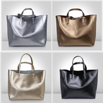 Munoor Womens Tote Bags 100% Genuine Cowhide Leather Fashionable Shoulder Lady Bags Handbags for Travel (Champagne) - intl - 4