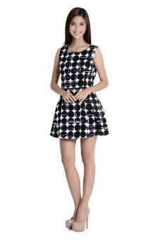 Nadine 1 Dress By Fashion Haus Online (Black/White)