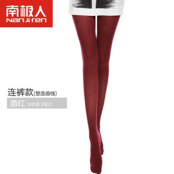 Nan Ji Ren Swan Velvet black anti-hook sexy leggings pantyhose (Pants wine red)
