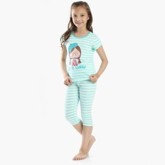 Nap Girls Just Be Yourself Tee and Pajama Set (Green)