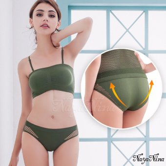 Naya Nina Sports Clothing Sports Underwears Activewear Sport Panties Seamless Green Price Philippines
