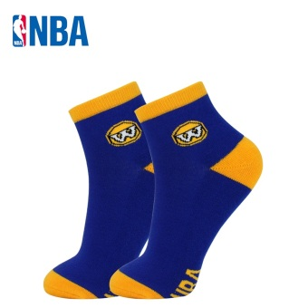NBA men's Short Tube basketball socks (Warriors blue/yellow)