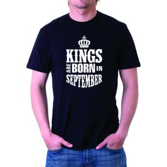 Negativitee Mens Kings Are Born In September Shirt (Black) Price Philippines