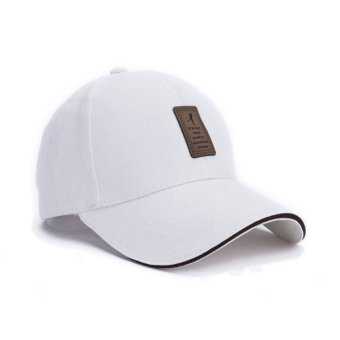 New 2016 Unisex Fashion Baseball Cap Snapback Solid Hats For MenBone( white)