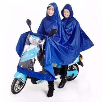 New 2017 Best Quality High Fashion Double 2-Person WaterproofMotorcycle Raincoat (Blue)