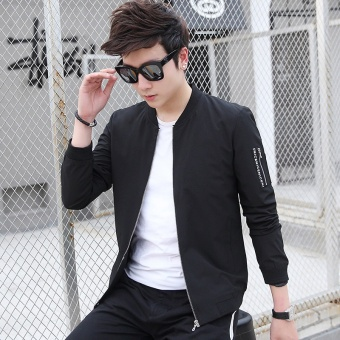 New 2017 Fashion Jacket Men Bomber Jacket Mens Coat Casual WearMen's Jackets Baseball Clothing - intl