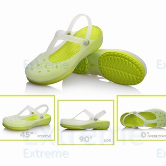 New 2017 Women Sandals color change Mary Jane shoes Summer croc Beach jelly shoes flat sandals woman Slides(Green)