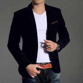 New Arrival Men's Casual Blazers Button Stylish Slim CorduroyBlazer Male Fashion Suit Jacket(Brown) - 5