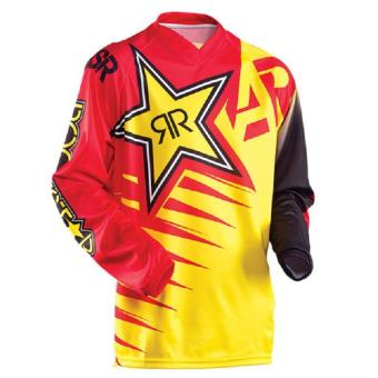 New Arrival Rock Star Moto Jersey MX MTB Off Road Mountain Bike DH Bicycle Jersey DH BMX Motocross jersey 3 styles (Gold) - intl