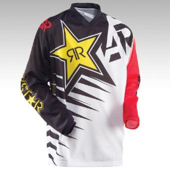 New Arrival Rock Star Moto Jersey MX MTB Off Road Mountain Bike DH Bicycle Jersey DH BMX Motocross jersey 3 styles (White) - intl