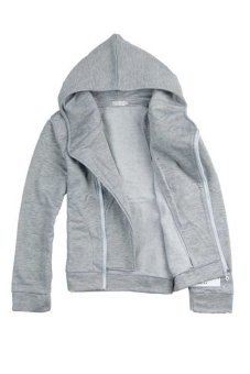 New autumn and winter fashion men's sports jacket sweater jacketlight grey - Intl