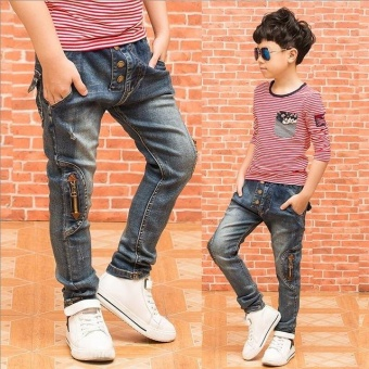New Boys Jeans Children Clothing Spring Autumn Kids Pants Trousersfor Boys Casual Denim Pants - intl Price Philippines