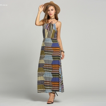 New Fashion Bohemian Style Women Maxi Beach Dress
