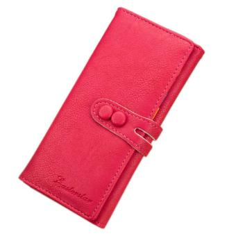 New Fashion Hot Lady Women Candy Soft Leather Clutch Wallet CuteLong Card Purse - intl
