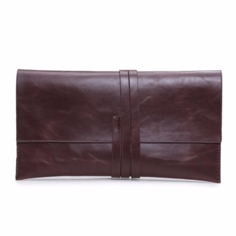 New Fashion Men Envelope Clutch Bag Leather Men Briefcase Bag Clutch Evening Bag Clutches Handbag - intl