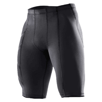 New Gym-Clothing Male Compression Tights Shorts Basketball Men GymShort Pants Black - intl