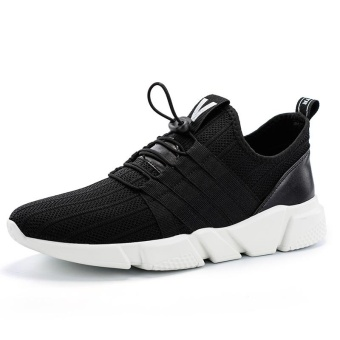 New Men Casual Shoes Autumn Mens Shoes Breathable Brand Luxury Mesh Casual Shoes Men Fashion (black) - intl