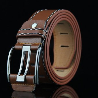 New Men's Genuine Leather Belt Fashion for Business Men (Brown) -intl