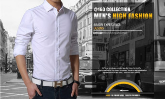 New Mens long sleeve Luxury Casual Slim Fit Stylish Dress Shirtswhite - 3
