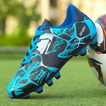New Mens Outdoor Turf Football Training Boots Waterproof Cleats Soccer Sports Shoes - intl