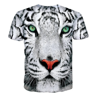 New Mens T Shirts Fashion 3D T Shirt Men Short Sleeve animalPrinted Men Casual tshirt male Creative Designed Shirts For Men - -Intl - 2