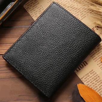 New Promotion Men's Wallets Slim Small Size Mini Genuine Leatherwallet Credit Card Holder bag small purse for men Clutch wallet - 3