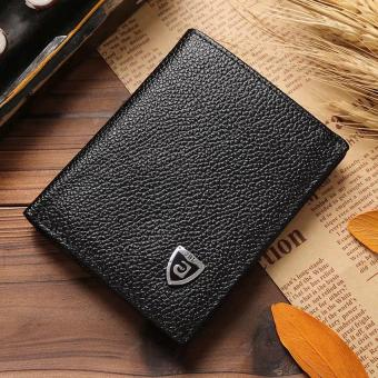 New Promotion Men's Wallets Slim Small Size Mini Genuine Leatherwallet Credit Card Holder bag small purse for men Clutch wallet - 2