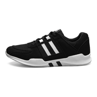 New style autumn casual men's shoes athletic shoes (316 black)