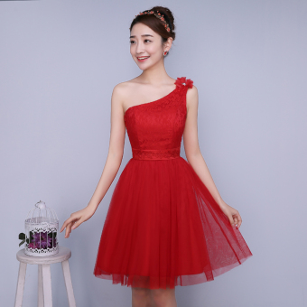 New style bridesmaid dress (Red) (Red)