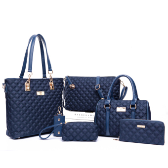 New style diagonal bag different size bags (Large Lingge blue)
