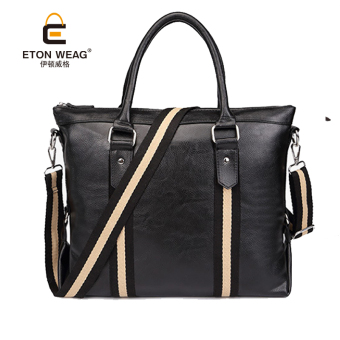 New style diagonal bag men's handbag (Black)