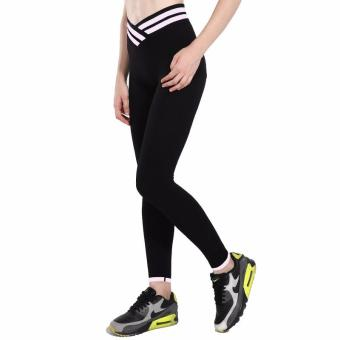 New style High Waist Stretched Women's Sports Pants Gym ClothesSpandex Running Tights Women Sports Leggings Fitness Yoga Pants -intl