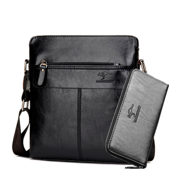 New style kangaroo men's bag men's bag (Plus handbag (black))