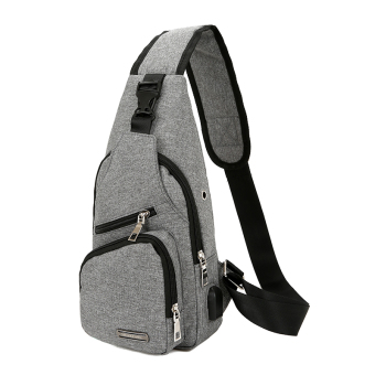 New style men's casual running bag (Gray)