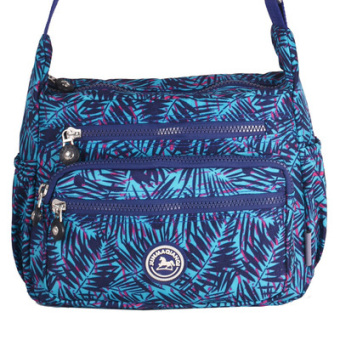 New style messenger bag nylon women's bag (Blue Clutches)