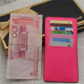 New style portable bank card holder (Light pink single piece 14 card bit) (Light pink single piece 14 card bit)