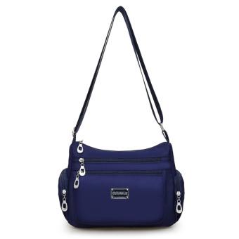New style shoulder messenger bag waterproof nylon bag (Dark blue color)