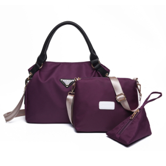 New style waterproof nylon Oxford Cloth Bag women's bag (Purple) (Purple)
