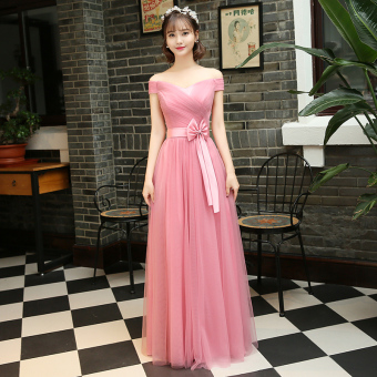 New style with red bean paste color bridesmaid dress (Red bean paste color B Section) (Red bean paste color B Section)