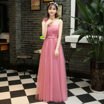 New style with red bean paste color bridesmaid dress (Red bean paste color C Models) (Red bean paste color C Models)
