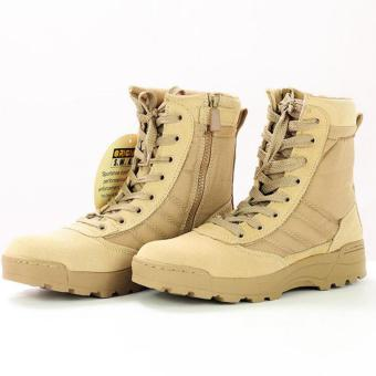 NEW Tactical Army Mens Lace Up Shoes Sports Desert Ankle Boots Waterproof - intl - 2