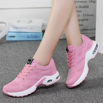 New Trendy Women Sneakers Fly Weave Breathable Women Running Shoes Soft Non-Slip Sole Womens Trainers Outdoor Sports Jogging Shoes(pink) - intl